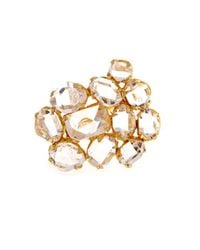 Pippa Small | Metallic Herkimer Diamond-Quartz & Yellow-Gold Ring | Lyst