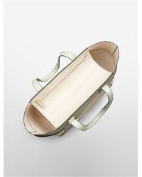 Calvin Klein - Green White Label Arslyne Patchwork City Capacity Tote - Lyst