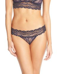 B.tempt'd | Purple 'lace Kiss' Thong | Lyst