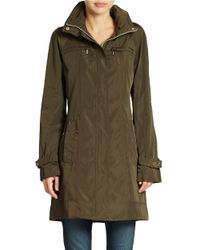 Calvin Klein | Green Packable Rain Repellent Jacket | Lyst