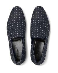 Alexander McQueen | Blue Polka-Dot Canvas Loafers for Men | Lyst