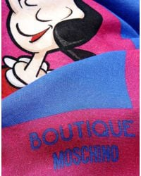Boutique Moschino - Blue Stole - Lyst