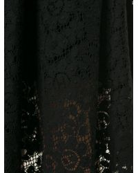 MSGM | Black Lace Skirt | Lyst
