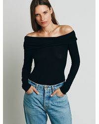 Free People | Black Cassiopia Tee | Lyst