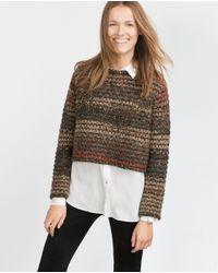 Zara   Green Round Neck Sweater   Lyst