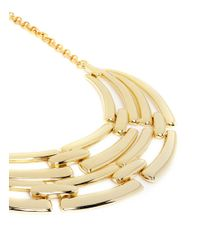 Kenneth Jay Lane | Metallic Linear Bar Bib Necklace | Lyst