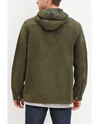 Forever 21 - Green Hooded Utility Jacket for Men - Lyst