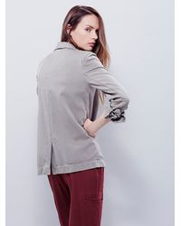 Free People - Metallic Womens Slouchy Blazer - Lyst