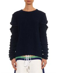 Rosie Assoulin | Blue Cut-out Hand-knitted Silk Sweater | Lyst