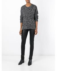 VINCE | Gray Women's Speckled Boucle Sweater | Lyst