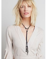 Free People - Black Womens Lawless Leather Bolo - Lyst