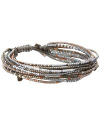 Chan Luu - Gray Multi Strand Seed Bead Single Bracelet - Lyst