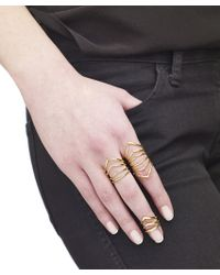 Arme De L'Amour | Metallic Chevron Knuckle Ring | Lyst