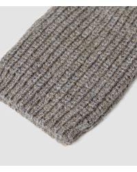 AllSaints - Gray Spinn Gloves for Men - Lyst