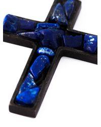 DSquared² - Black Jade Crucifix Necklace for Men - Lyst
