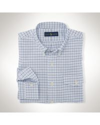 Polo Ralph Lauren | Blue Slim-fit Stretch Oxford Shirt for Men | Lyst