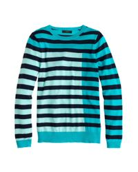 J.Crew | Blue Collection Featherweight Cashmere Tippi Sweater In Colorblock Stripe | Lyst
