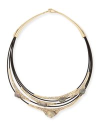 Alexis Bittar - Black Miss Havisham Mother-of-pearl & Crystal Layered Cable Necklace - Lyst