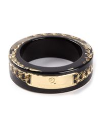 McQ - Black 'plexi Chain' Bangle - Lyst