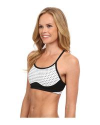 New Balance | White Tenderly Obsessive Print Bra | Lyst