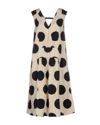 Marni - Natural Knee-length Dress - Lyst