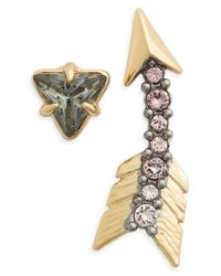 Alexis Bittar - Metallic Crystal Encrusted Arrow Mismatched Earrings - Lyst