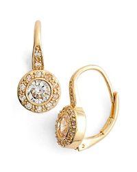 Anne Klein - Metallic Cubic Zirconia Drop Earrings - Lyst