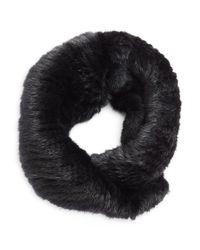 Surell | Black Mink Fur Infinity Loop Scarf | Lyst