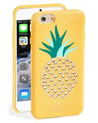 kate spade new york - Yellow 'pineapple' Iphone 6 Case - Lyst