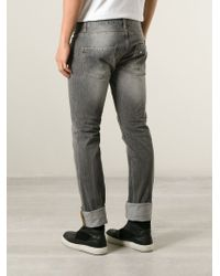 Philipp Plein - Gray Slim Fit Jeans for Men - Lyst