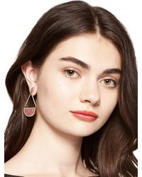 kate spade new york - Pink Sugarcoated Stone Triangle Drop Earrings - Lyst