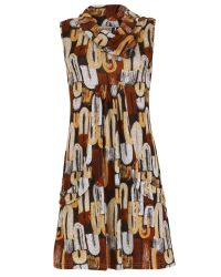 Izabel London | Brown Printed Sleeveless Dress | Lyst