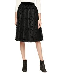 kate spade new york | Black Dot Tulle Skirt | Lyst