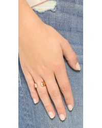 Vita Fede - Metallic Obsedia Crystal Ring - Gold/clear - Lyst