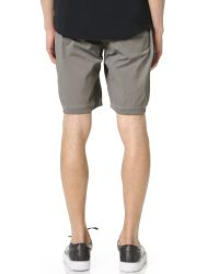 Steven Alan | Gray Stretch Nylon Shorts for Men | Lyst