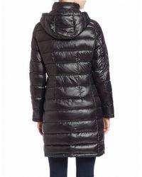 Calvin Klein | Black Packable Puffer Coat | Lyst