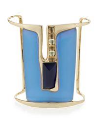 Alexis Bittar - Blue Ombre Liquid Metal Cuff Bracelet - Lyst