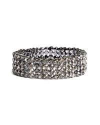 Tasha | Jeweled Stretch Bracelet - Hematite/ Black | Lyst