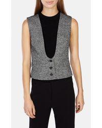 Karen Millen | Multicolor Tweed Waistcoat | Lyst