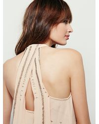 Free People | Pink Womens Shimmer And Shine Tank | Lyst