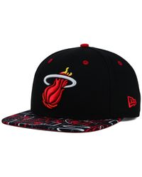KTZ - Black Miami Heat Hwc Tag It 9fifty Snapback Cap for Men - Lyst