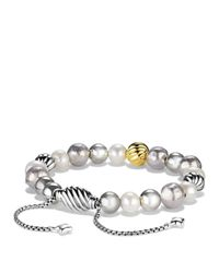 David Yurman - Metallic Dy Elements Bracelet With Pearls And Gold - Lyst