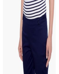 Mango | Blue Stretch Cotton Trousers | Lyst