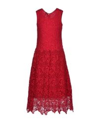 Scee By Twin-set | Red Knee-Length Dress | Lyst