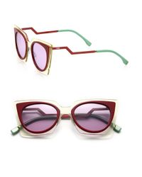 Fendi | Purple Zig-zag 49mm Cat's-eye Sunglasses | Lyst