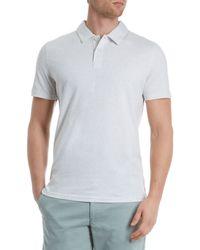Jaeger | White Pima Polo Regular Fit Polo Shirt for Men | Lyst