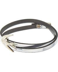 McQ | Metallic Mini Swallow Leather Wrap Bracelet - For Women | Lyst