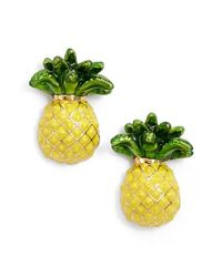 kate spade new york | Yellow 'Any Way You Slice It' Stud Earrings | Lyst