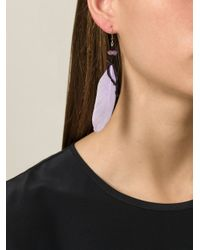 Etro - Pink Feather Earrings - Lyst