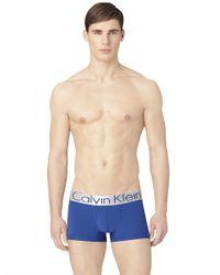 Calvin Klein | Blue Steel Microfiber Low-rise Trunk for Men | Lyst
